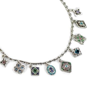 Etheria Silver Charm Necklace N1340 - Sweet Romance Wholesale