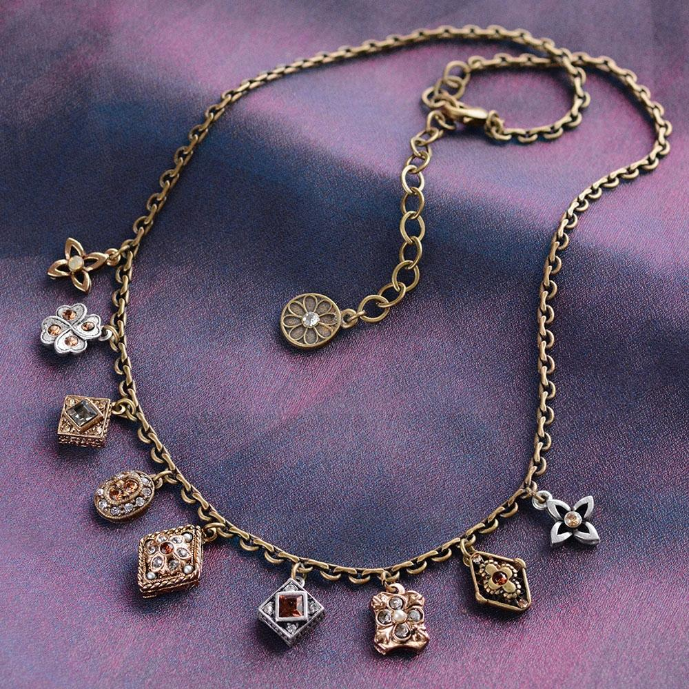 Geometric Dainty Charm Necklace N1340 - Sweet Romance Wholesale