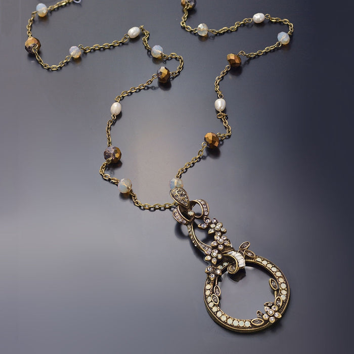 Caroline Bronze Magnifier Necklace N1384 - Sweet Romance Wholesale