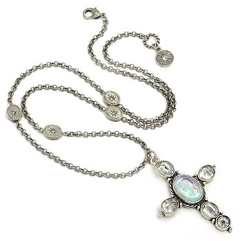Auvergne Cross Pendant Necklace N1412 - Sweet Romance Wholesale