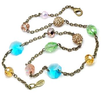 Sparkly Summer Bead Necklace N1414-RG - Sweet Romance Wholesale