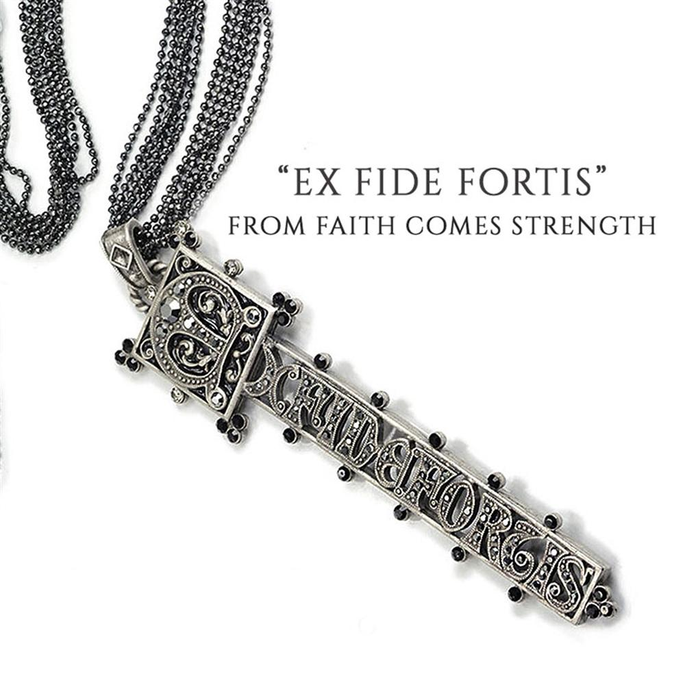 Ex Fide Fortis - From Faith, Strength - Necklace - Sweet Romance Wholesale