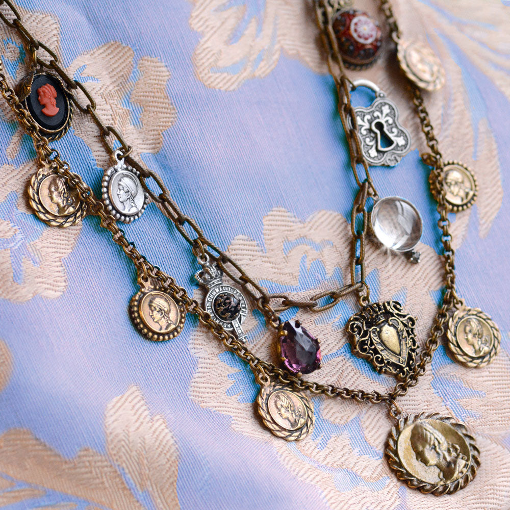 Ancient Coins Necklace N1436 - Sweet Romance Wholesale