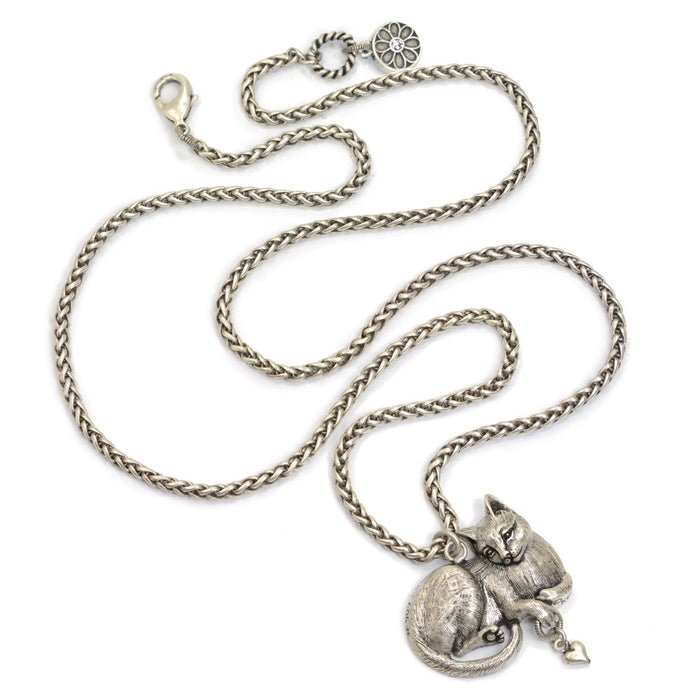 Cheshire Cat Sculpture Pedant Necklace N1439 - Sweet Romance Wholesale