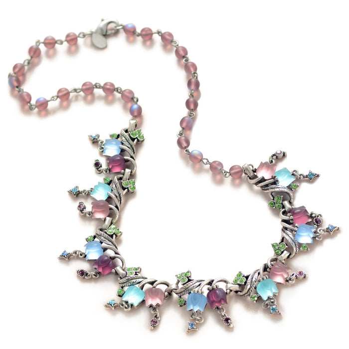 Satin Tulips Necklace N144 - Sweet Romance Wholesale