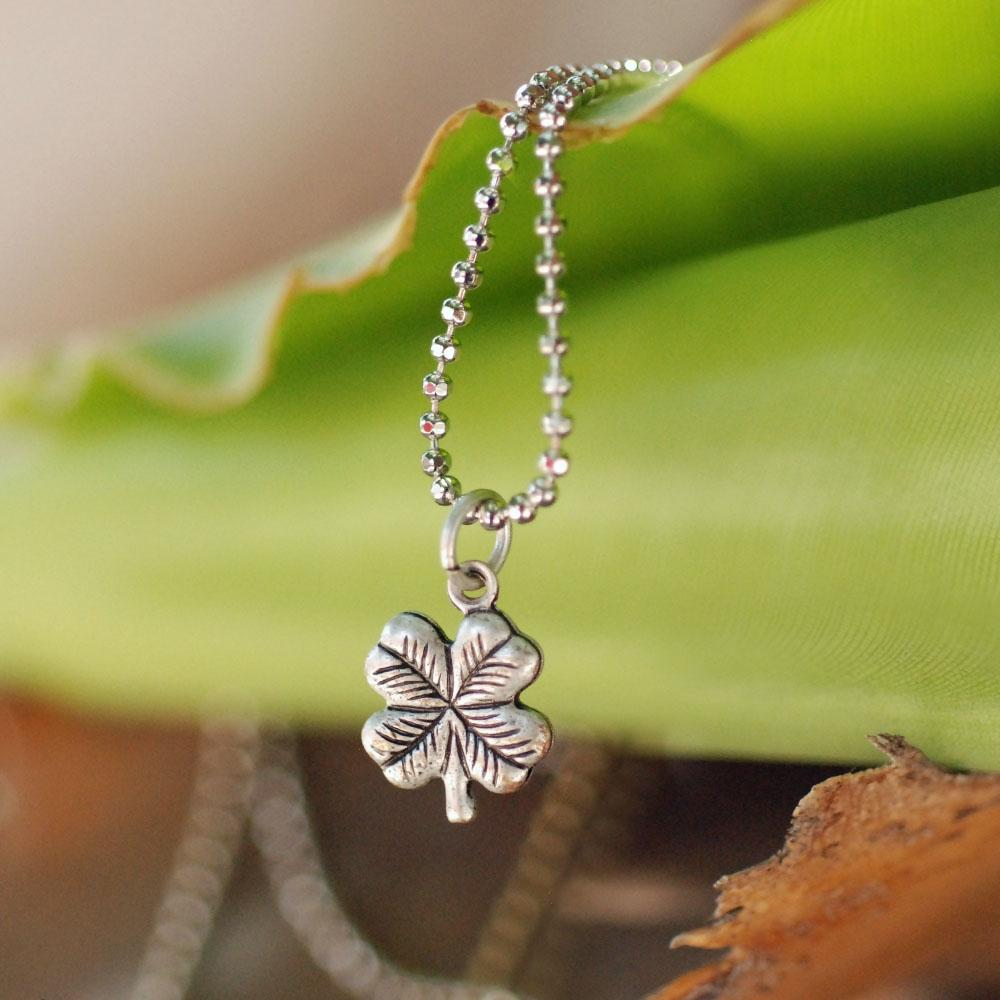 Tiny Clover Charm Necklace N1447 - Sweet Romance Wholesale