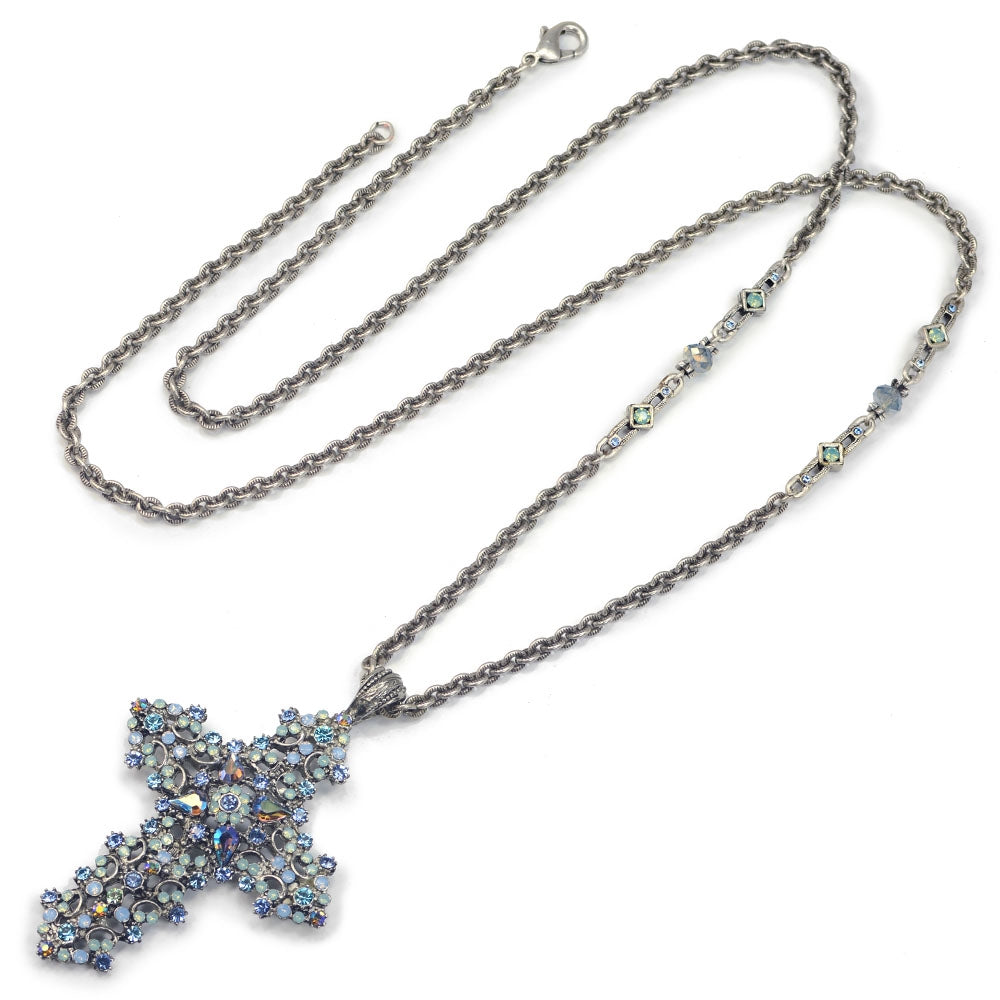 Starlight Cross Necklace N1465-ST - Sweet Romance Wholesale