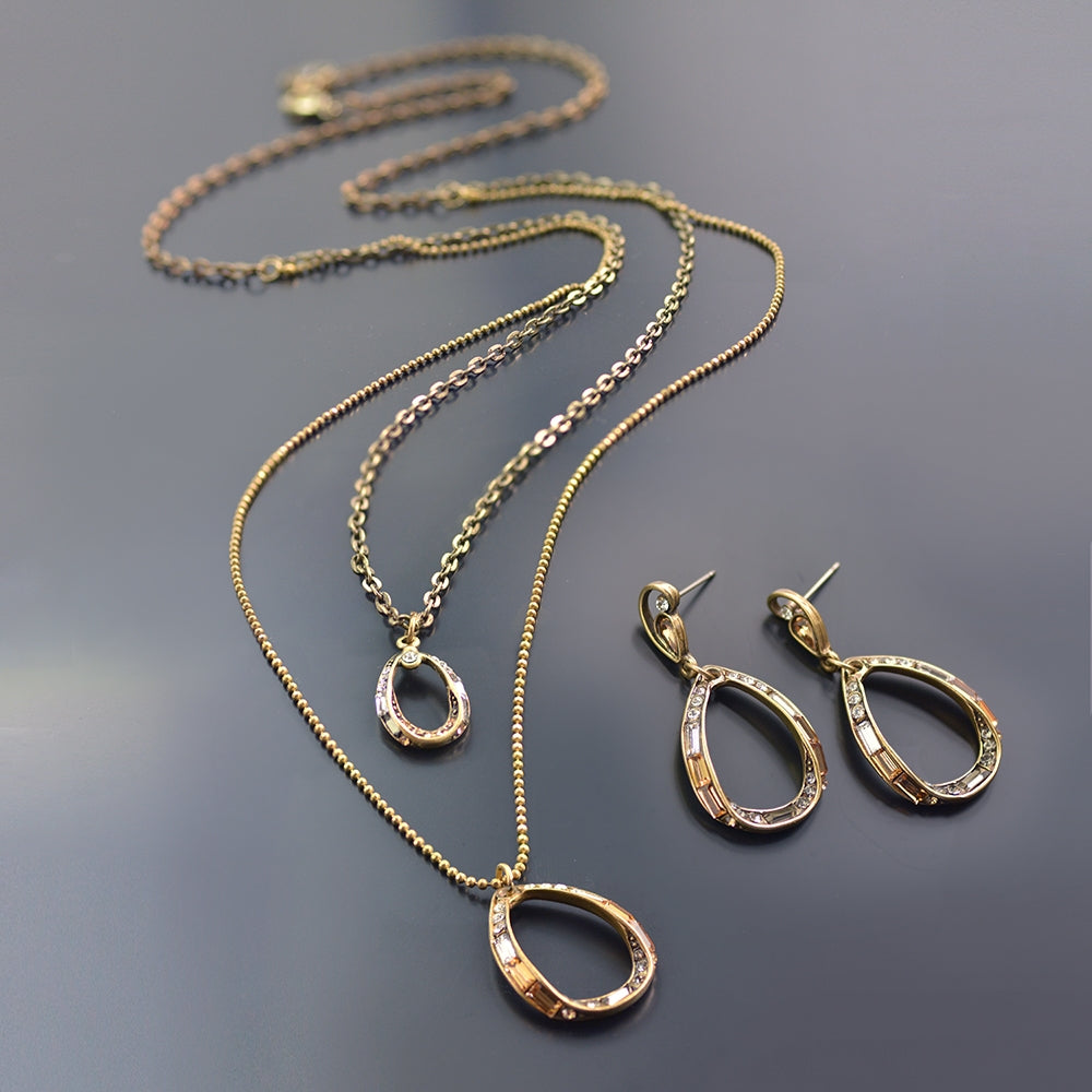 Deco Loop 2 Tier Necklace N1470 - Sweet Romance Wholesale