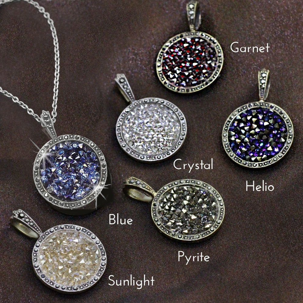 Druzy Crystal Pendant Necklace N1503 - Sweet Romance Wholesale