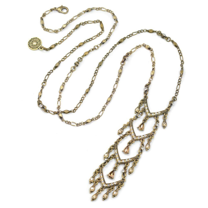 Crystal Ladder Necklace N1511 - Sweet Romance Wholesale