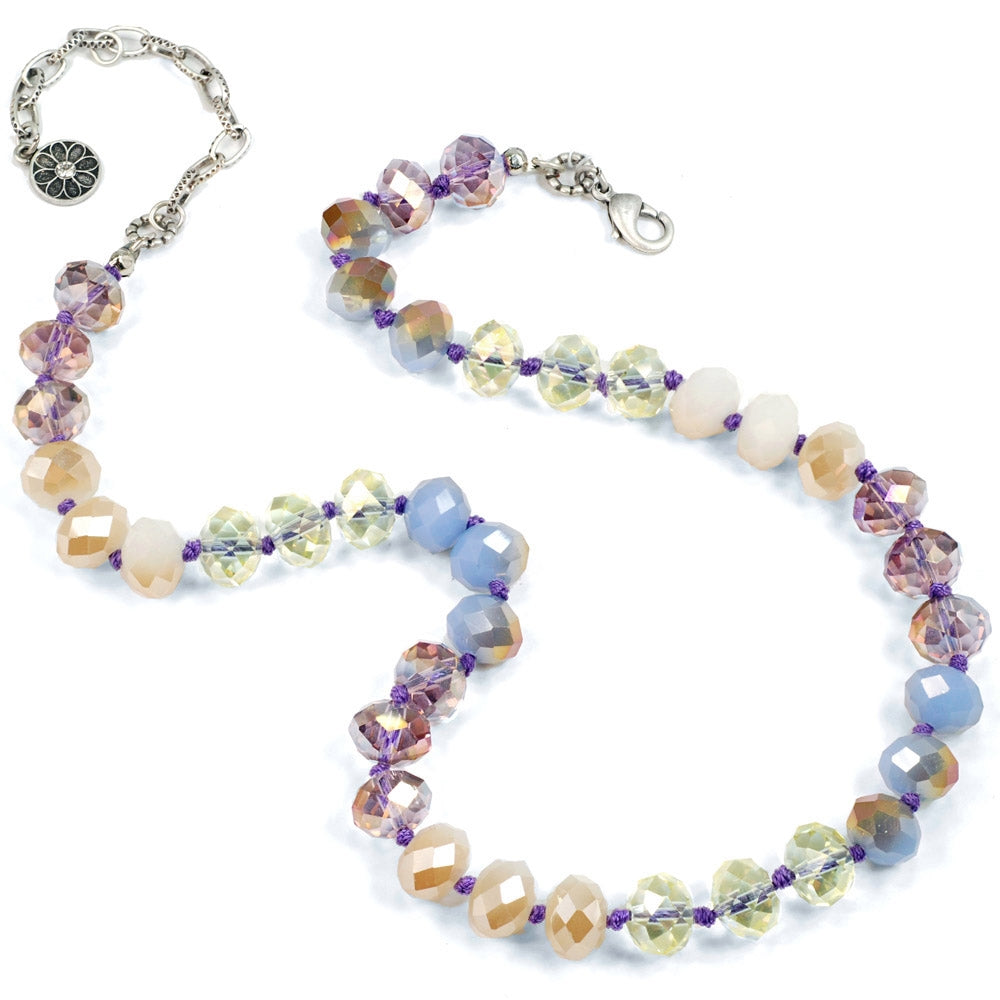 Pastel Sorbet Bead Necklace - Set of 2 (one of each color) N1540-SET
