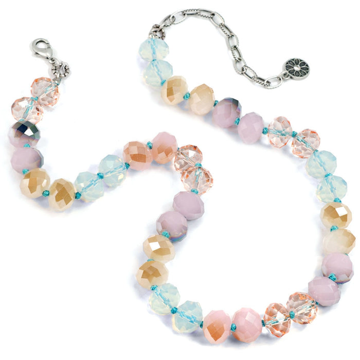 Pastel Sorbet Bead Necklace - Set of 2 (one of each color) N1540-SET - Sweet Romance Wholesale