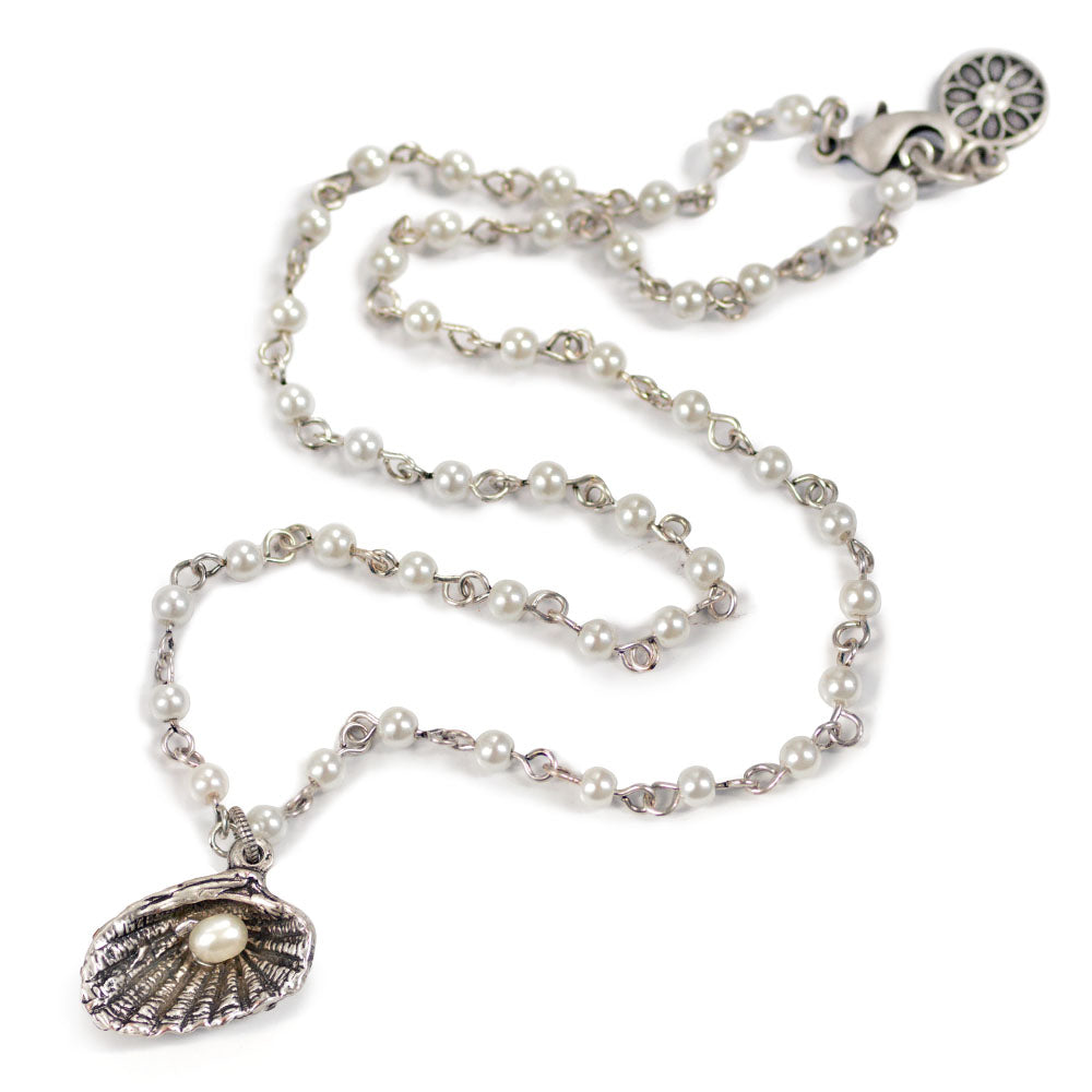 Seashells and Pearls Necklace N1546 - Sweet Romance Wholesale