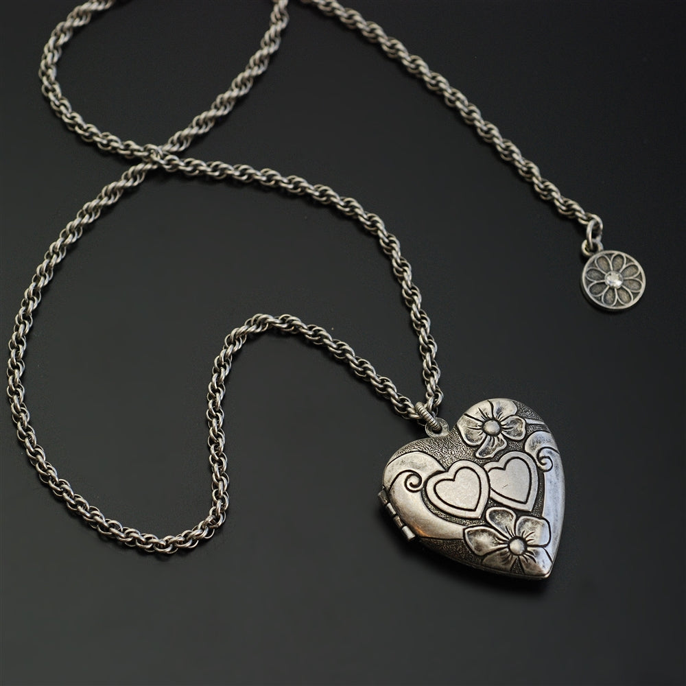 Sweet Heart Silver Locket N1577 - Sweet Romance Wholesale