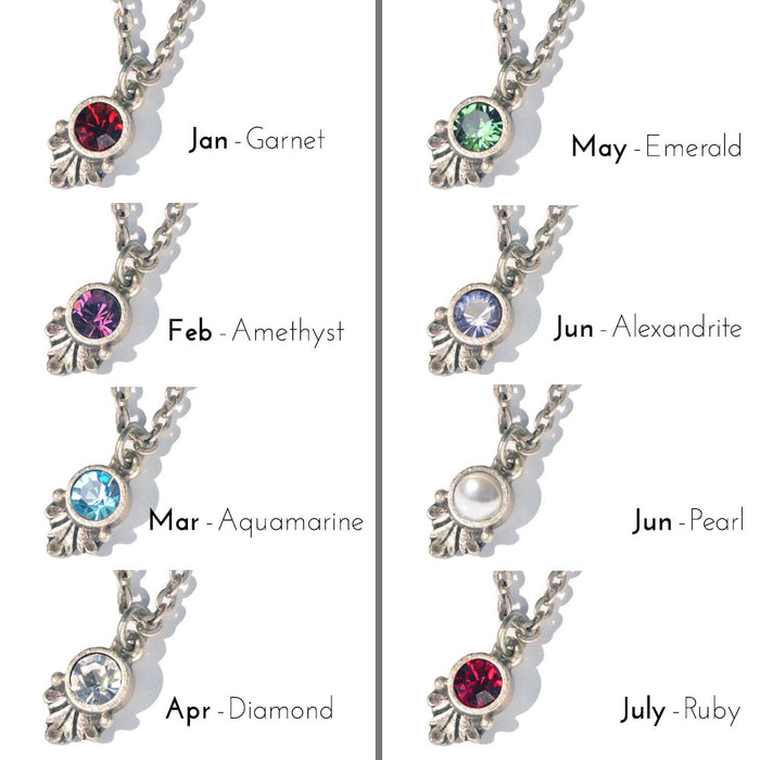Swarovski Crystal Solitaire Birthstone Pendant Necklace - Sweet Romance Wholesale