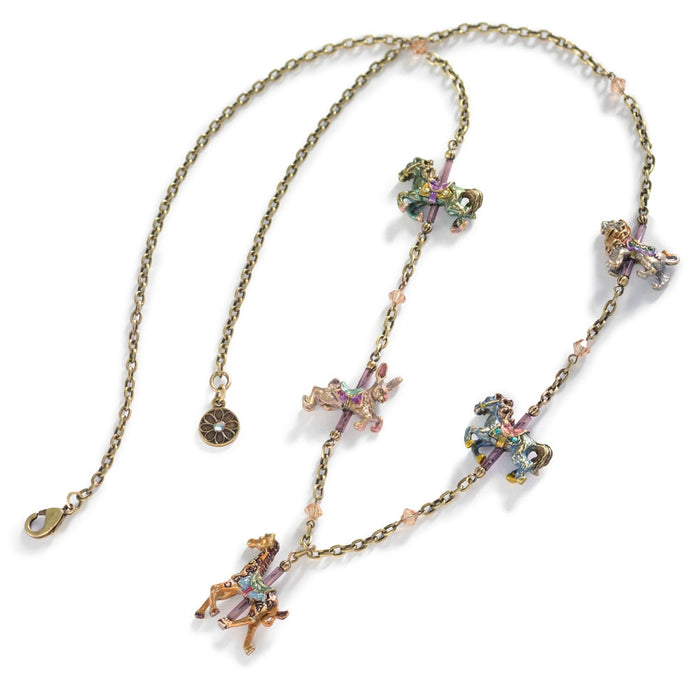 Carousel Animals Charm Necklace N240 - Sweet Romance Wholesale