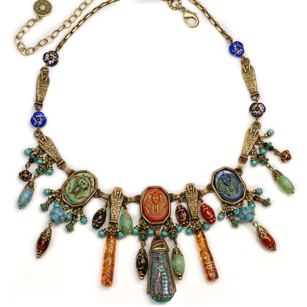 Art Deco Egyptian Vintage Goddess Pharaoh Collar Necklace N305 - Sweet Romance Wholesale