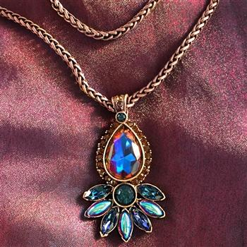 Vintage Peacock Pendant Copper Fire - Sweet Romance Wholesale