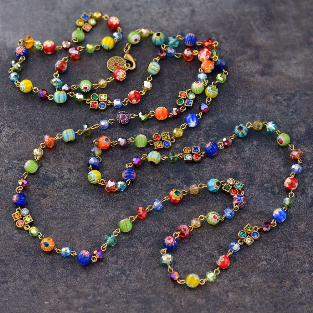 Long Candy Beads Necklace N464 - Sweet Romance Wholesale