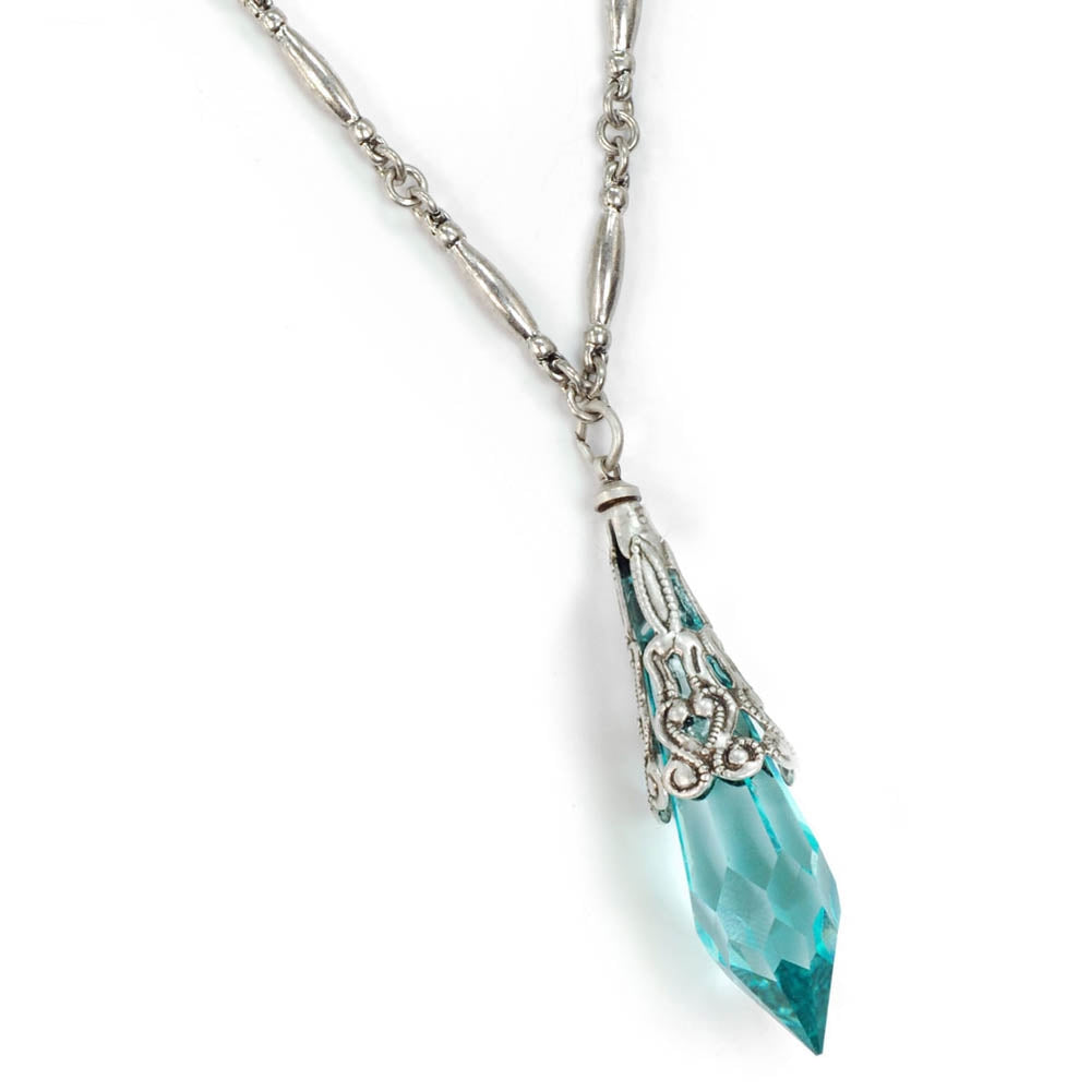 Crystal Prism Pendant Necklace N497 - Sweet Romance Wholesale