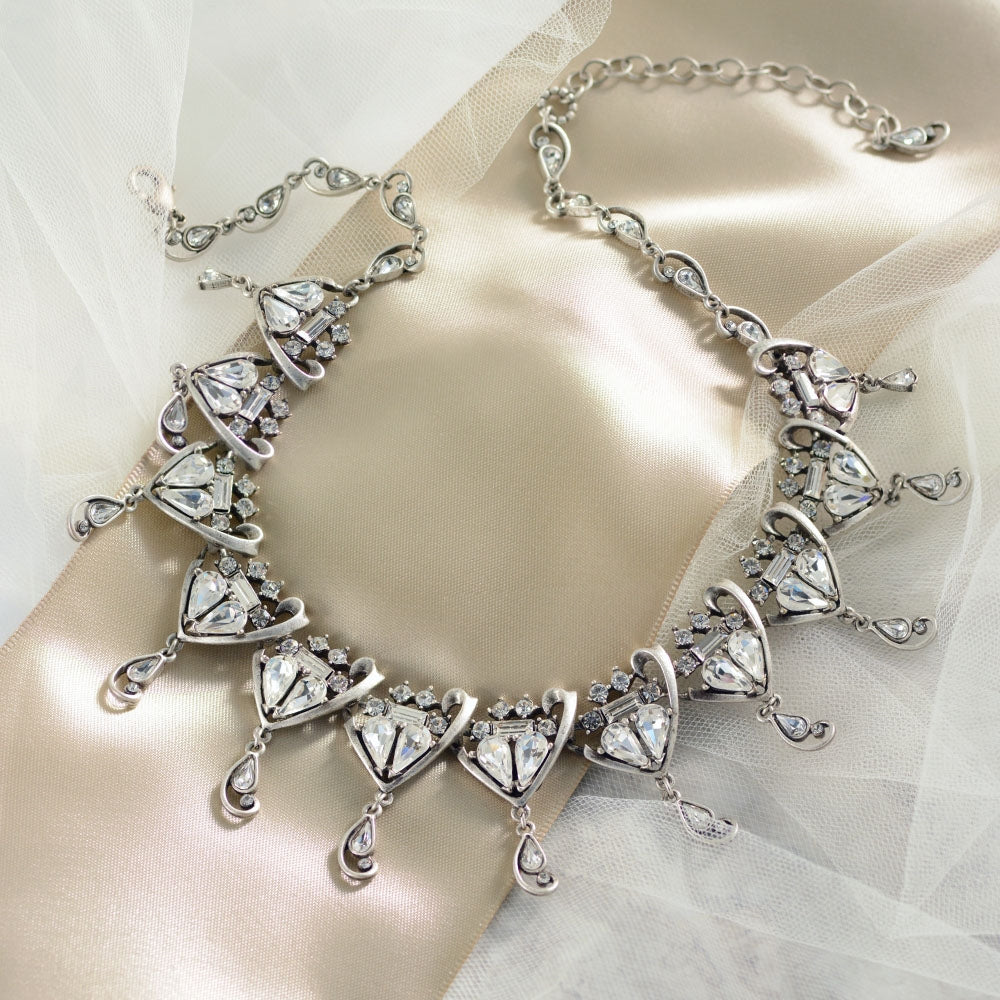 Grand Crystal Wedding Necklace - Sweet Romance Wholesale