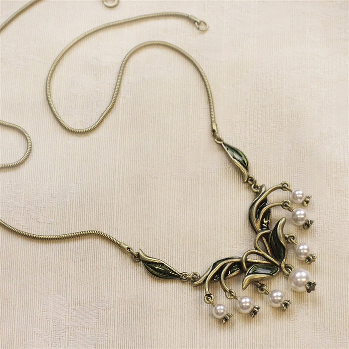 Lily of the Valley Necklace N585 - Sweet Romance Wholesale