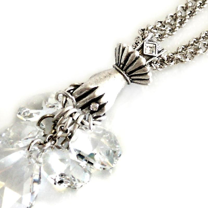 Hand Full of Crystal Necklace N629 - Sweet Romance Wholesale
