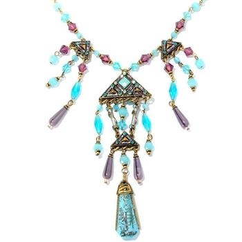 Aqua Pyramid Necklace N655 - Sweet Romance Wholesale