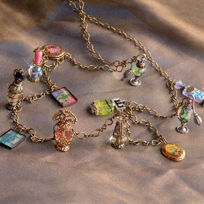 Perfume Charm Necklace N691 - Sweet Romance Wholesale