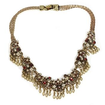 Somerset Garnet Statement Necklace - Sweet Romance Wholesale