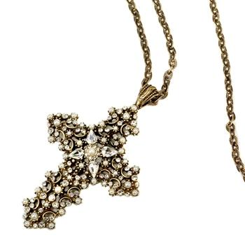 Lace Cross Necklace