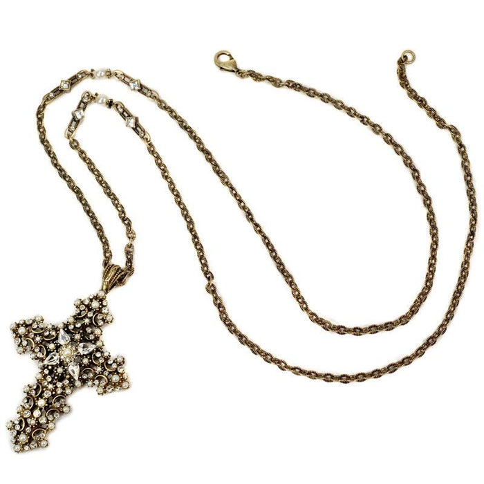 Lace Cross Necklace - Sweet Romance Wholesale
