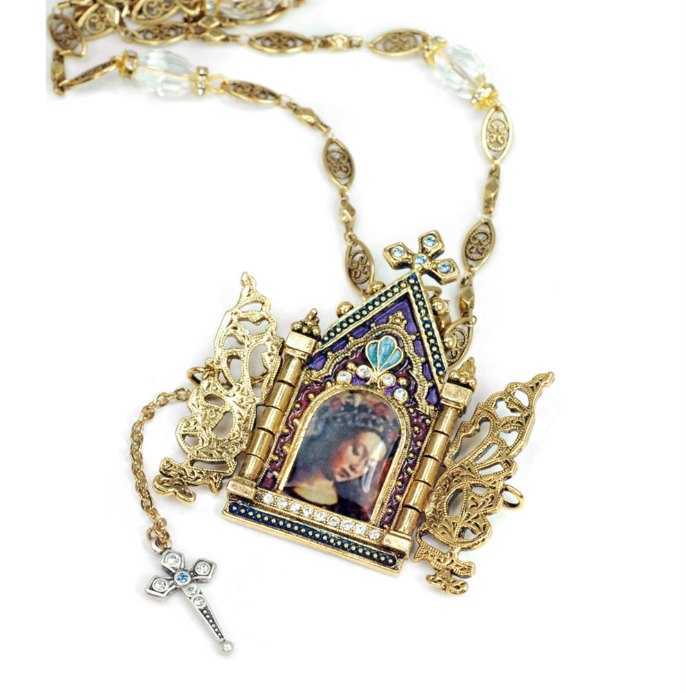 Gates of Heaven Necklace and Devotional Reliquary N849