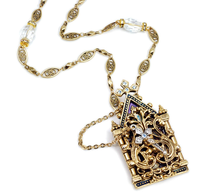 Gates of Heaven Necklace and Devotional Reliquary N849 - Sweet Romance Wholesale