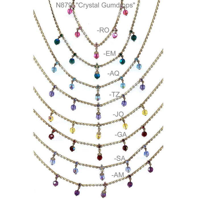 Crystal Gumdrops Necklace N879 - Sweet Romance Wholesale