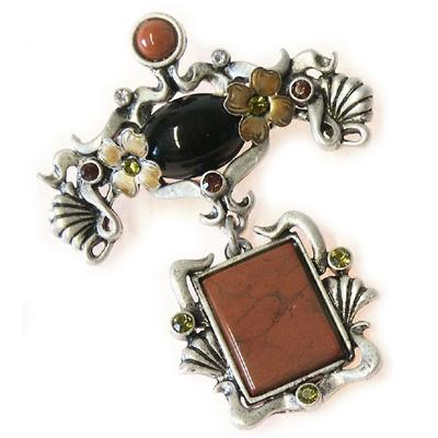 Jasper Art Nouveau Pin P207 - Sweet Romance Wholesale