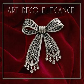 Art Deco Crystal Bow Brooch Pin P219 - Sweet Romance Wholesale