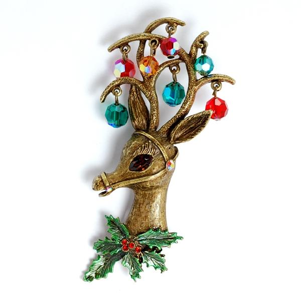 Mrs. Claus' Rudolf the Reindeer Pin