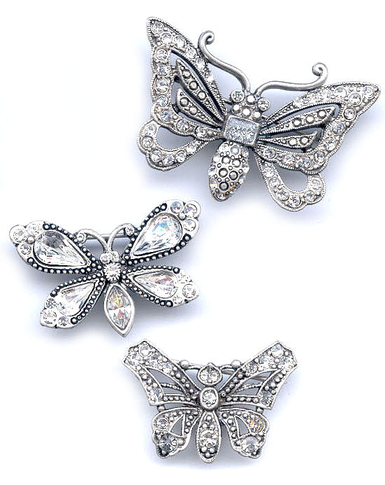 Set of 3 Butterfly Pins P333 - Sweet Romance Wholesale