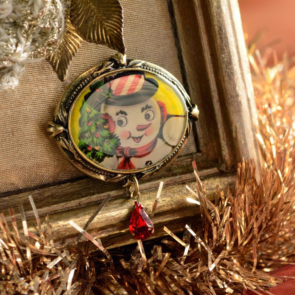 Snowman Christmas Pin P339 - Sweet Romance Wholesale