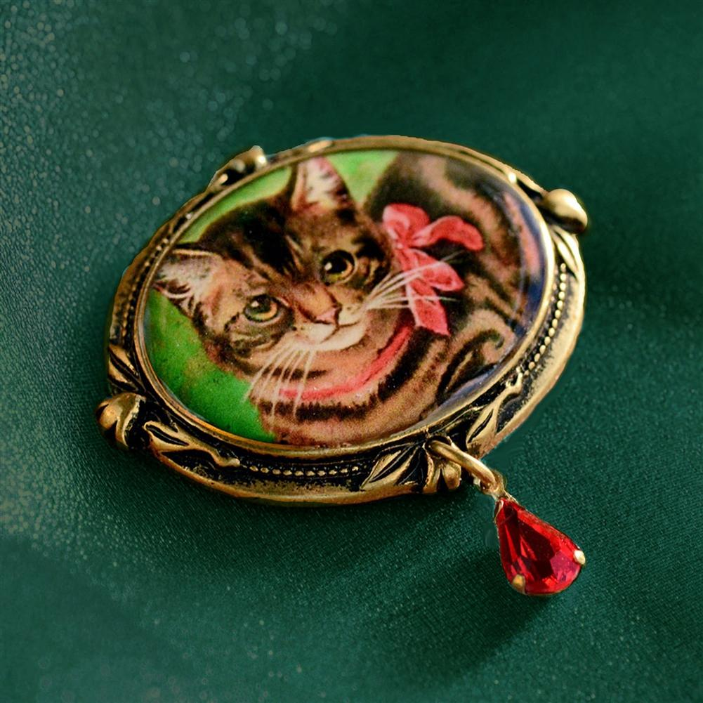 Christmas Kitty Pin P341 - Sweet Romance Wholesale