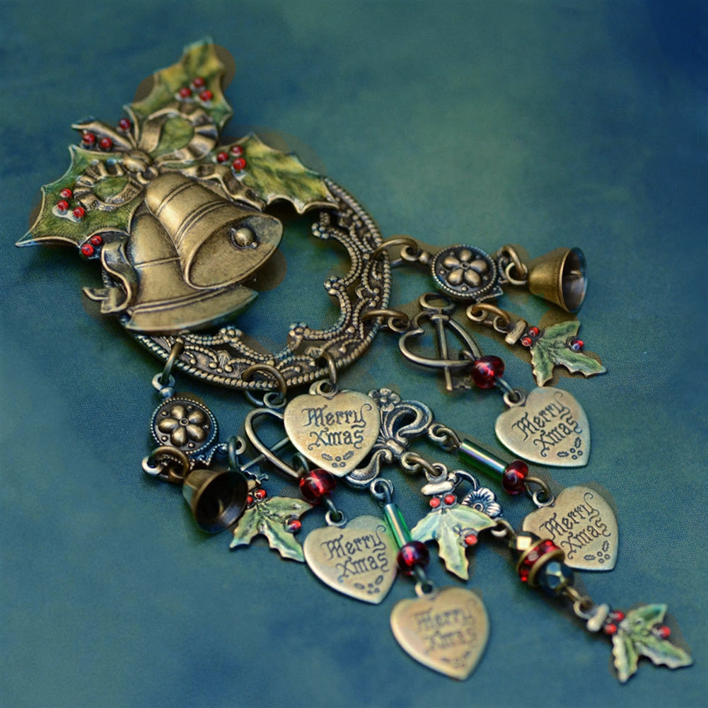 Holly Bells Pin P355 - Sweet Romance Wholesale
