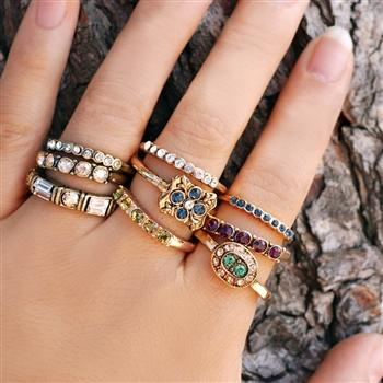 Set of 3 Inspirational Stacking Rings R100-R105 - Sweet Romance Wholesale