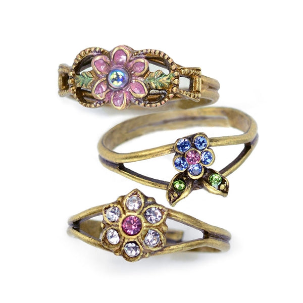 Set of 3 Adjustable Finger Ring or Toe Rings R1106 - Sweet Romance Wholesale