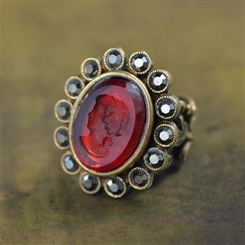 Cameo Intaglio Ring R135 - Sweet Romance Wholesale