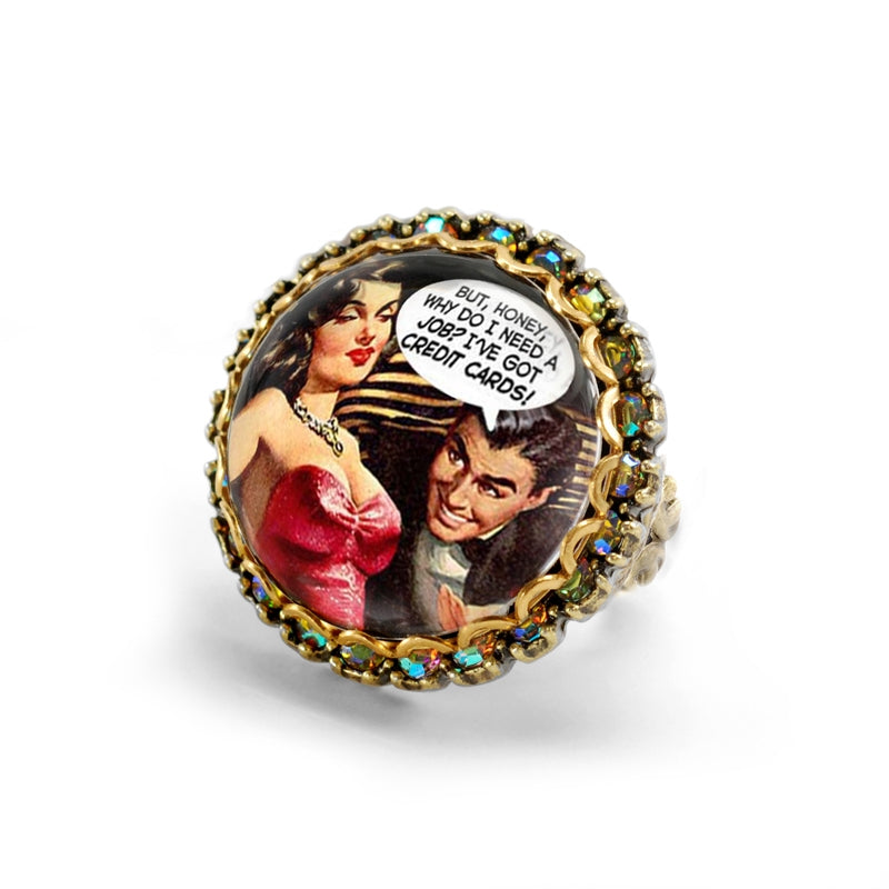 Vintage Vixens Comic Rings - Sweet Romance Wholesale