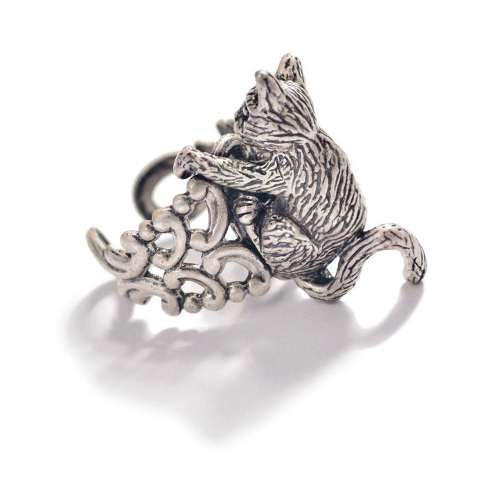 Cat Sculpture Ring R528 - Sweet Romance Wholesale