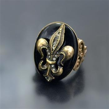 Fleur de Lis Old Paris Ring R533 - Sweet Romance Wholesale