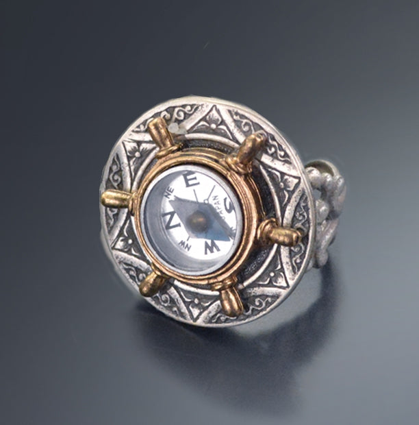 Compass Ring R545 - Sweet Romance Wholesale
