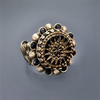 Vintage Glass Pinwheel Ring - Sweet Romance Wholesale